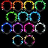 LEUCHTIE Premium Easy Charge LED svietiaci obojok tmavoružový 37,5 cm