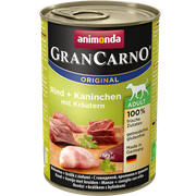 Animonda GranCarno Original Adult hovädzie + králik + bylinky 400 g