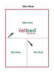 Vetbed® Gold antracitový 100 x 150 cm