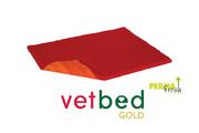 Vetbed® Gold červený 100 x 150 cm