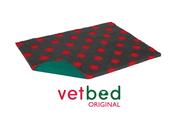 Vetbed® Original antracitový s červenými bodkami 100 x 150 cm
