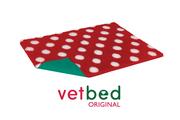 Vetbed® Original červený s bielymi bodkami 100 x 150 cm
