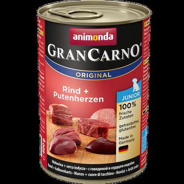 Animonda GranCarno Original Junior hovädzie + morčacie srdcia 400 g / EXSP 3/2019