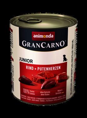 Animonda GranCarno Original Junior hovädzie + morčacie srdcia 800 g