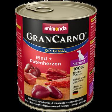 Animonda GranCarno Original Senior hovädzie + morčacie srdcia 800 g