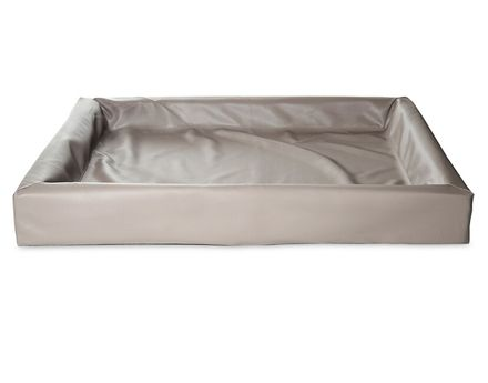 BIA BED 100 x 120 cm šedohnedý