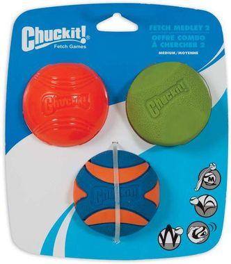 Chuckit! Loptička Medley 2 Medium 6,5 cm (sada 3 ks)