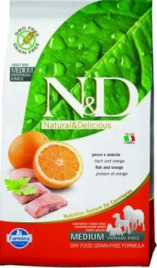 Farmina N&D dog GF adult medium ryba & pomaranč 0,8 kg