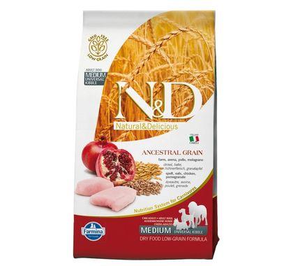 Farmina N&D dog LG Adult Medium kura, špalda, ovos&granátové jablko 12 kg