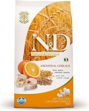 Farmina N&D dog LG Adult Medium treska & pomaranč 2,5 kg