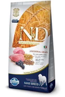Farmina N&D dog LG Adult medium&maxi jahňa, špalda, ovos & čučoriedka 12 kg