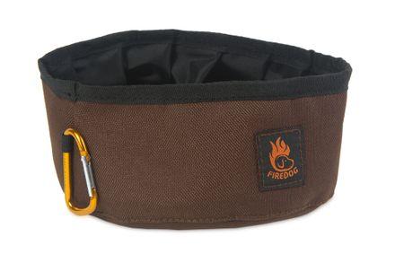 Firedog Click & Go cestovná miska 1,0 L hnedá