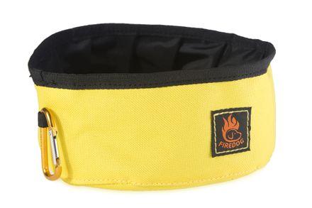 Firedog Click & Go cestovná miska 1,0 L žltá
