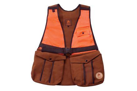 Firedog Huntingvesta L bavlna hnedá/oranžová