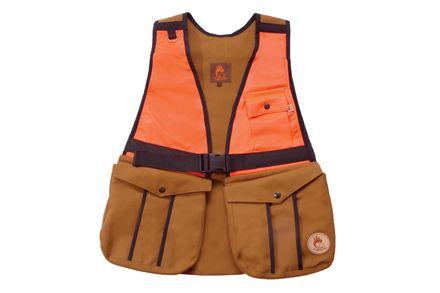 Firedog Huntingvesta S bavlna svetlohnedá/oranžová