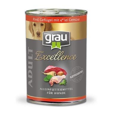 Grau Excellence ADULT Hovädzie a kuracie so 4 druhmi zeleniny 400 g