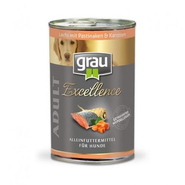 Grau Excellence ADULT Losos s paštrnákom a mrkvou 400 g
