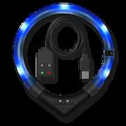 LEUCHTIE Premium Easy Charge LED svietiaci obojok modrý transparentný 45 cm