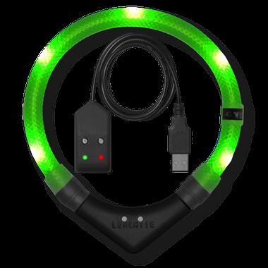 LEUCHTIE Premium Easy Charge LED svietiaci obojok neónovozelený 55 cm
