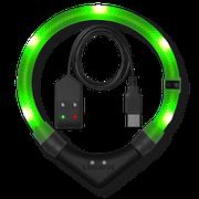 LEUCHTIE Premium Easy Charge LED svietiaci obojok neónovozelený 40 cm