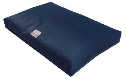 Nepremokavý ortopedický matrac pre psov L 110 x 75 cm tmavomodrý