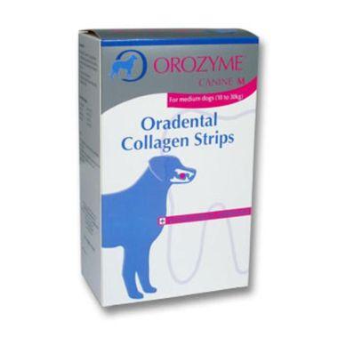 Orozyme Oradental žuvacie plátky M - pre stredné plemená od 10 kg do 30 kg, 141 g
