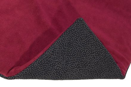 Protišmyková fleece podložka L burgundy