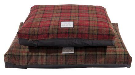 Tartanový luxusný poťah na matrac L zelený