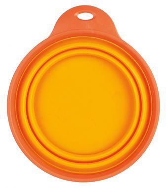 Trixie Cestovná miska skladacia s pevným okrajom, silikónová 1 l/18 cm oranžová