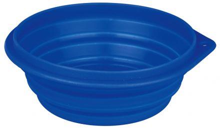 Trixie Cestovná miska skladacia, silikónová 1 l/18 cm modrá