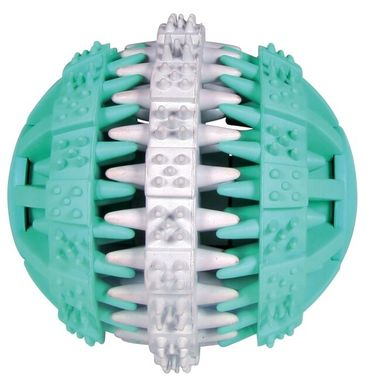 Trixie Denta Fun lopta s mätou zeleno-biela 6 cm