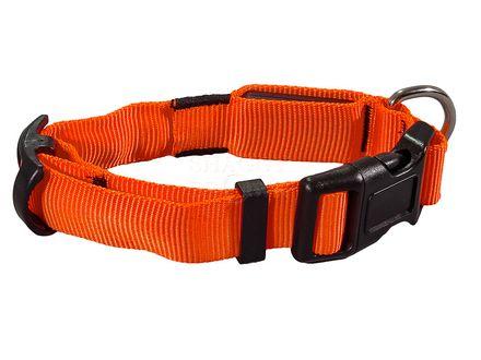 Trixie Flash Collar - nylon - svietiaci obojok S-M 30-40 cm/25 mm oranžový
