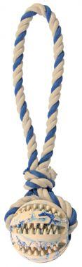 Trixie Preťahovadlo DentaFun s loptou 7 cm / 24 cm