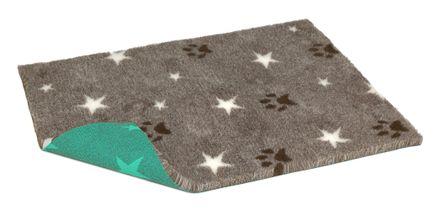 Vetbed® Original hnedý s bielymi hviezdičkami a s packami 100 x 150 cm
